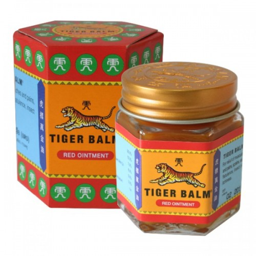Red tiger balm and its packaging